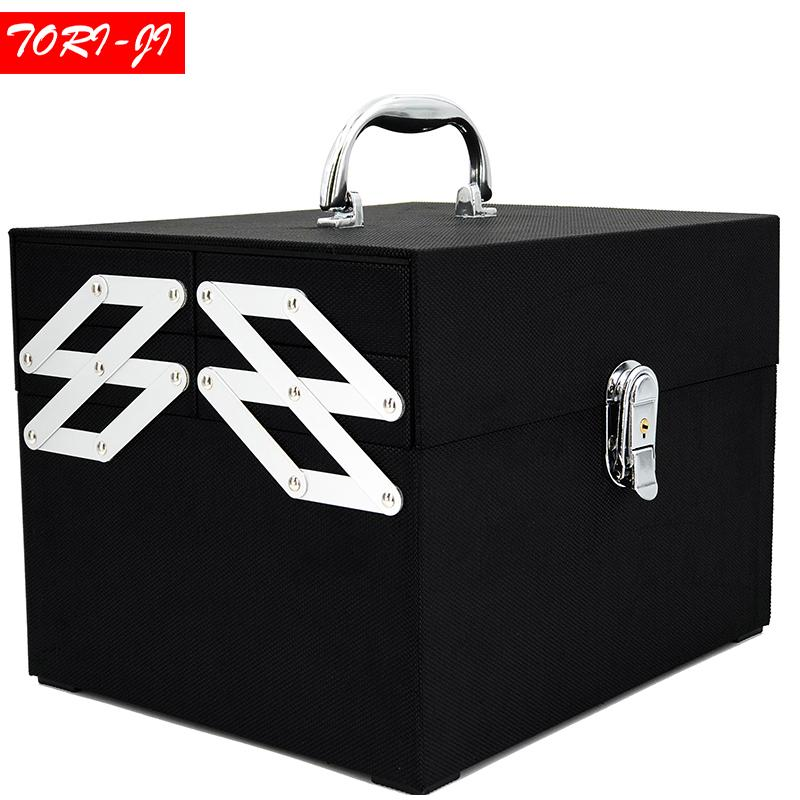 Tori Ji Oxford Cloth Makeup Train Case Professional Adjustable 4 Trays  Cosmetic Cases Makeup Storage Organizer Box With Lock Makeup Storage Travel  Bags From ...