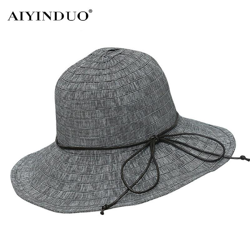Hot Fashion Simple Spring Summer Women Sun Hats Elegant Solid Color Cloth Caps Bow Tie Ladies Sunscreen Shade Caps