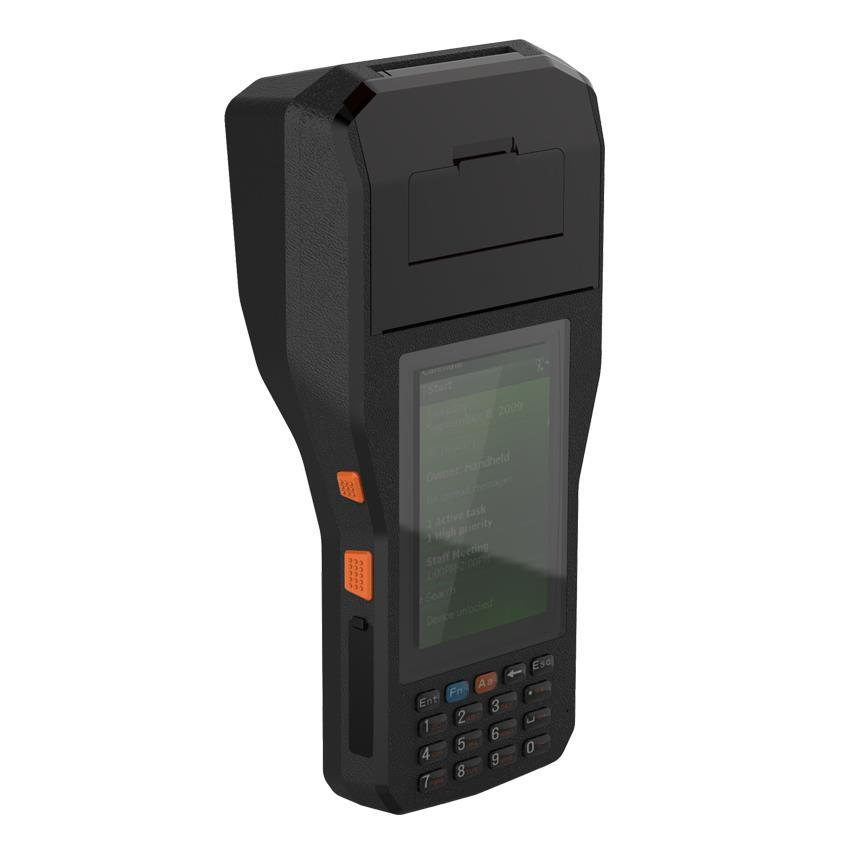 Android 6 0 OS 80mm label printer with 1D/2D Barcode Scanner RFID reader 4G  communication