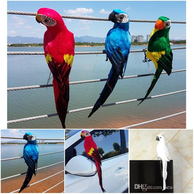 2019 DIY Craft Parrot Feather Garden Window Decoration For Home Accessories 45cm Decor Bird G604S From Sea Blooms