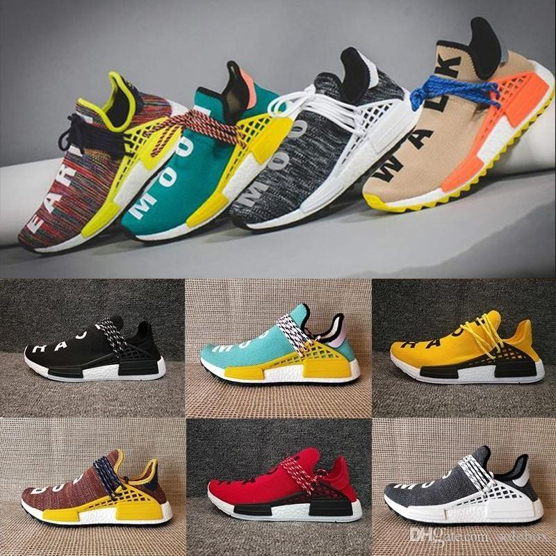 pretty nice 5e951 879aa Sales Promotion NMD HUMAN RACE Pharrell Williams Hu NMD_TR X NMD Runner  Shoes man & women New Arrivals Summer Autumn Sneakers Size 36-47
