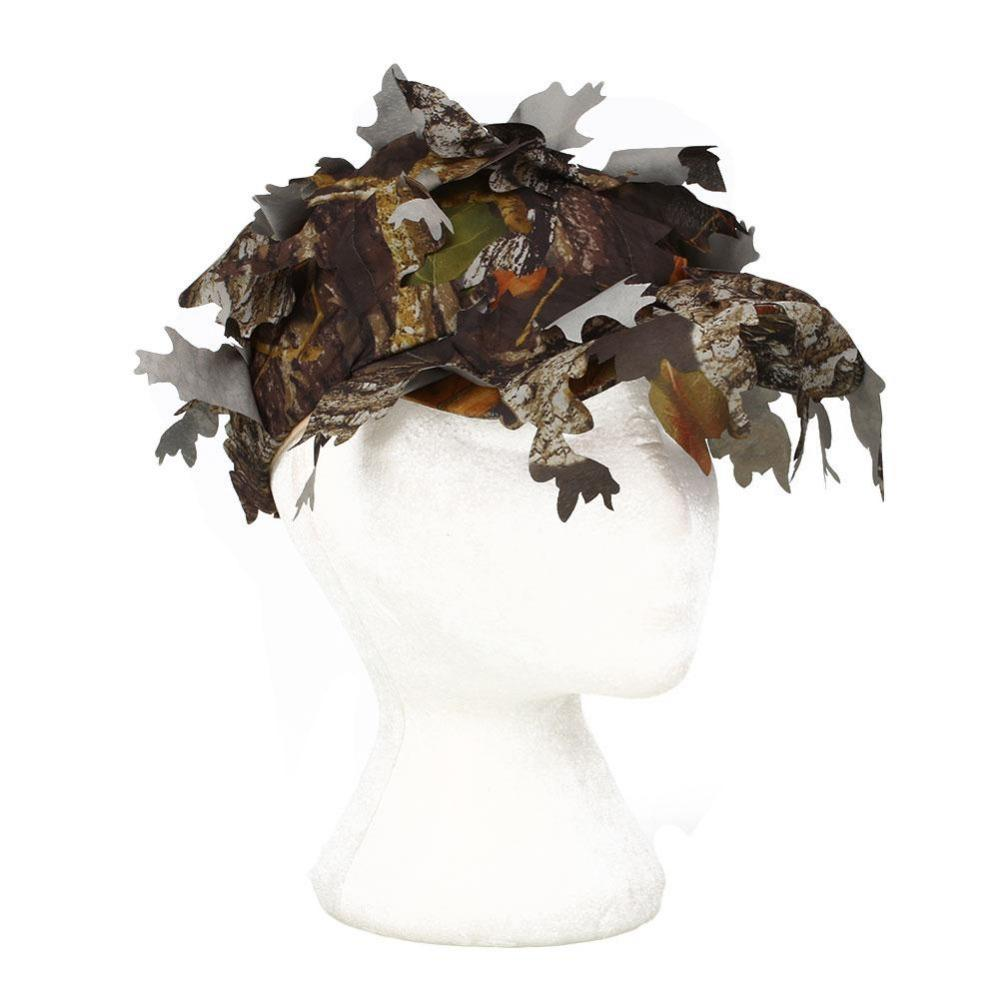 Ghillie Suits Tactical Cap with Bionic Leaf Army Camo Hunting Green black Oxford Hat Sniper Hidden Jungle desert Forest