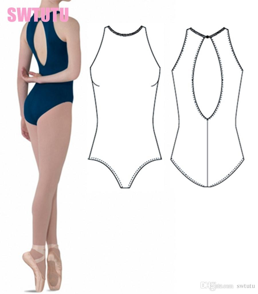 aea494fdea2f 2019 Girls High Neck Tank Plunging Back Ballet Leotards Adult Sexy ...