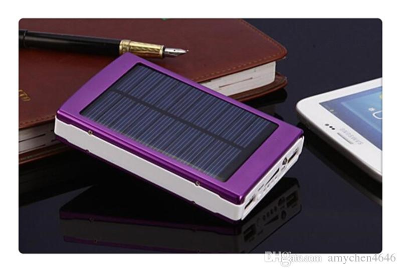 30000 mah Solar Charger and Battery 30000mAh Solar Panel Dual Charging Ports portable power bank for All Cell Phone table PC MP3