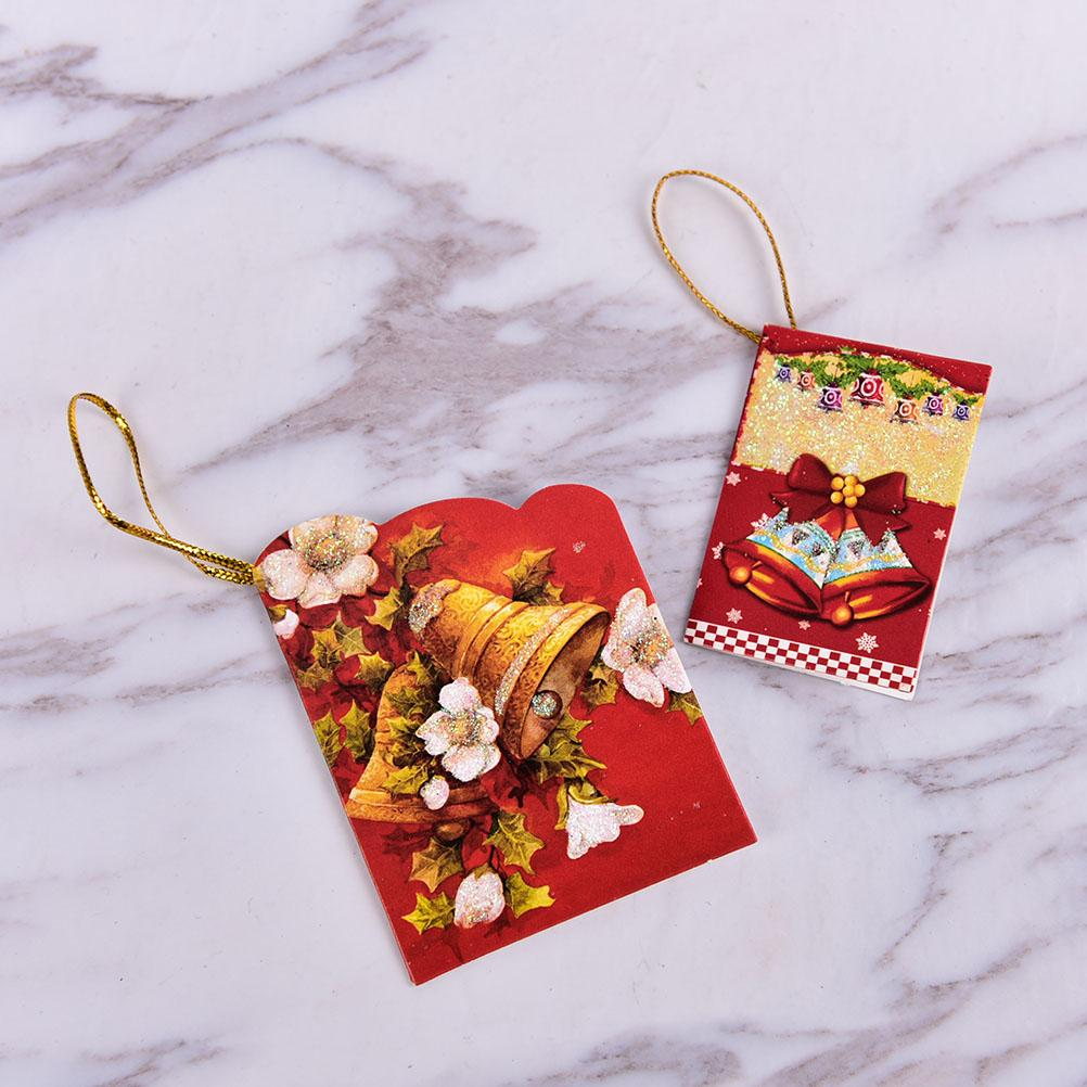 Christmas Tree Hanging Card Mini Christmas Cards Decorations Gifts ...