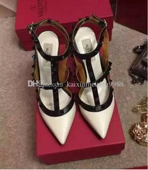 0929364fdb5f7 2018 Brand Designer Women High Heels 10cm Patent Leather Fashion ...