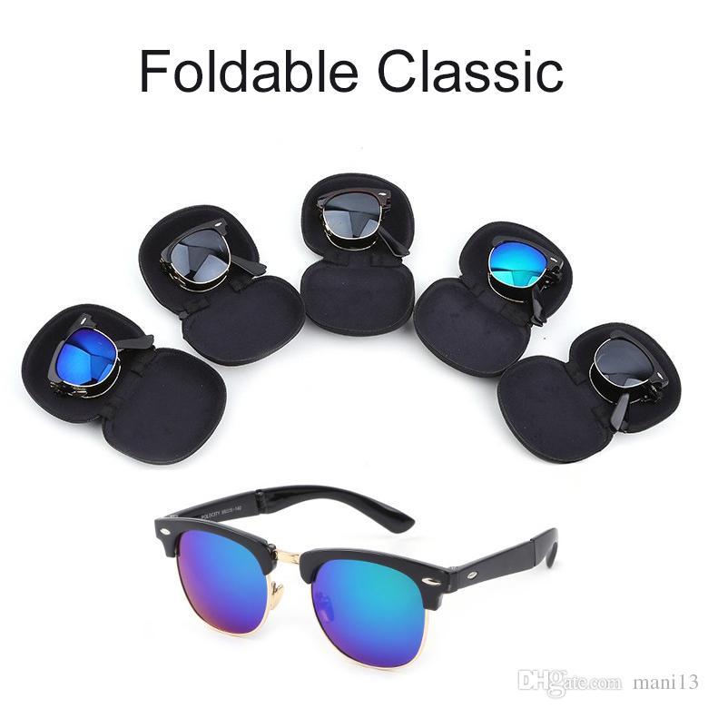 Wholesale Low Price Metal Folding Sunglasses Women Men Brand Designer Pilot  Mirror Sun Glasses With Case Wholesale Low Price Sunglasses Online with ... 290ead060d