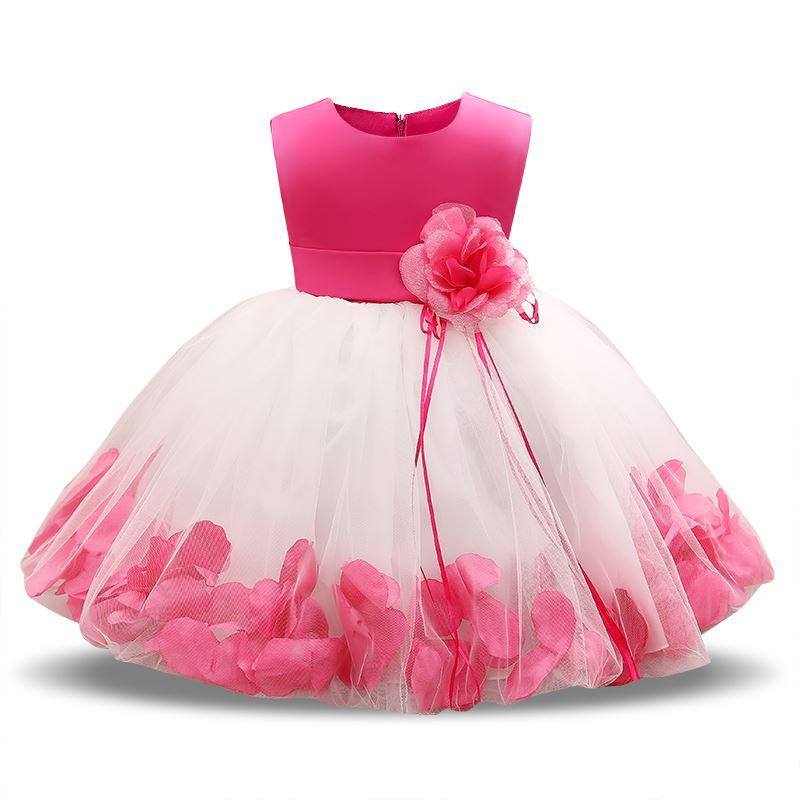 f76546ae9fa9 2019 Newborn Dresses For Baby Girls Flowers Toddler Christening Gown ...