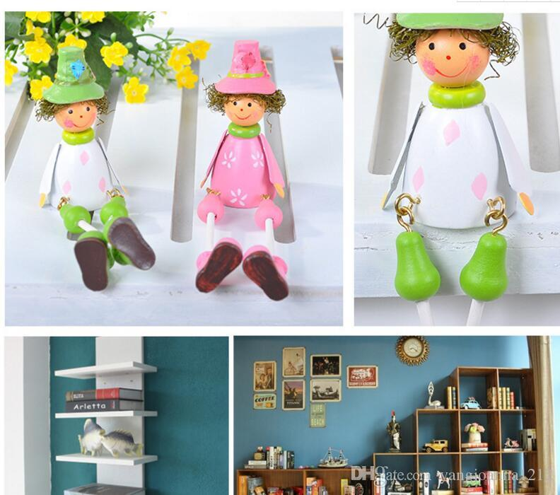 New Wooden Hammock Doll Crafts And Arts With Long Leg Gift Set Birthday Gifts For Girl Children Kids Bedroom Decoration