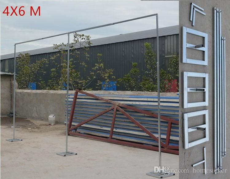 Wedding Banquet Decoration 2M High 2M Wide Aluminum Pipe&Base Wedding Backdrop Stand Sturdy And Durable