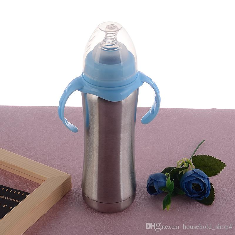 8f602cca8 Vacuum Insulation Nursing Bottle With Silicone Nipple 304 Stainless Steel  Baby Milk Feeders Infant Bottles 8oz Kids Gift China Mugs Christmas Coffee  Mugs ...