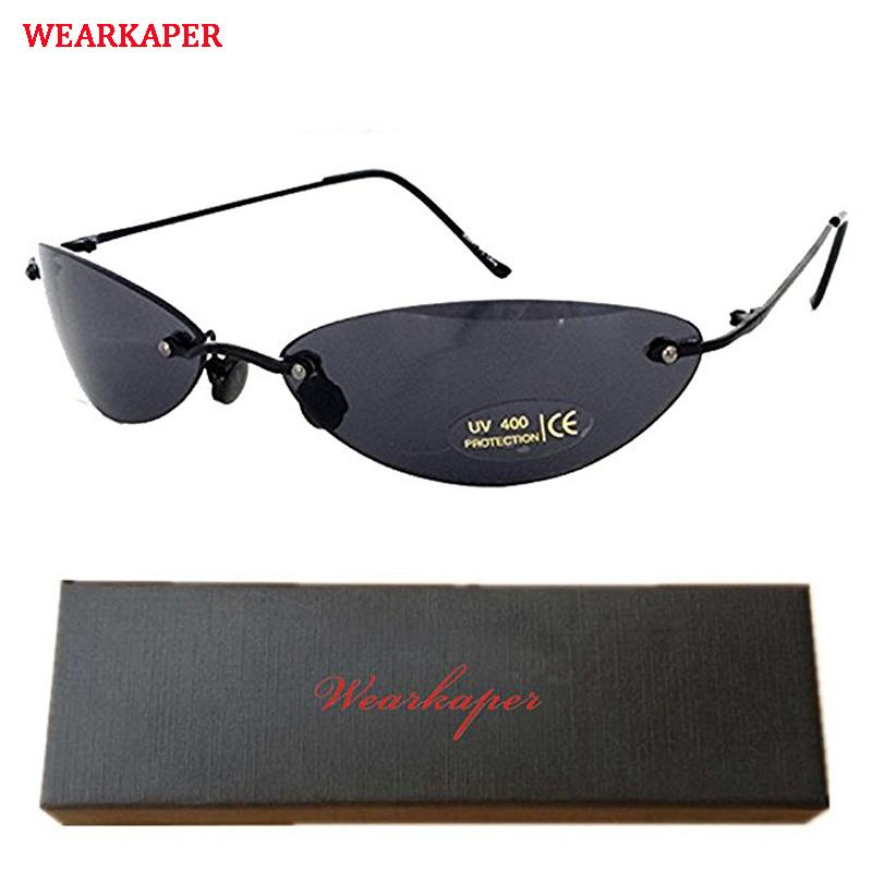 fad292f1c77 WEARKAPER Classic Oval Glasses Matrix Morpheus Sunglasses Movie Sun Glasses  Oculos De Sol Feminino Sunglasses Cheap Sunglasses WEARKAPER Classic Oval  ...