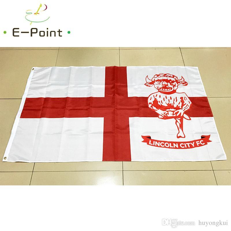 Inglaterra London City FC 3 * 5 pies 90 cm * 150 cm Bandera de EPL de poliéster Decoración de la bandera volando la bandera del jardín de su casa Regalos festivos