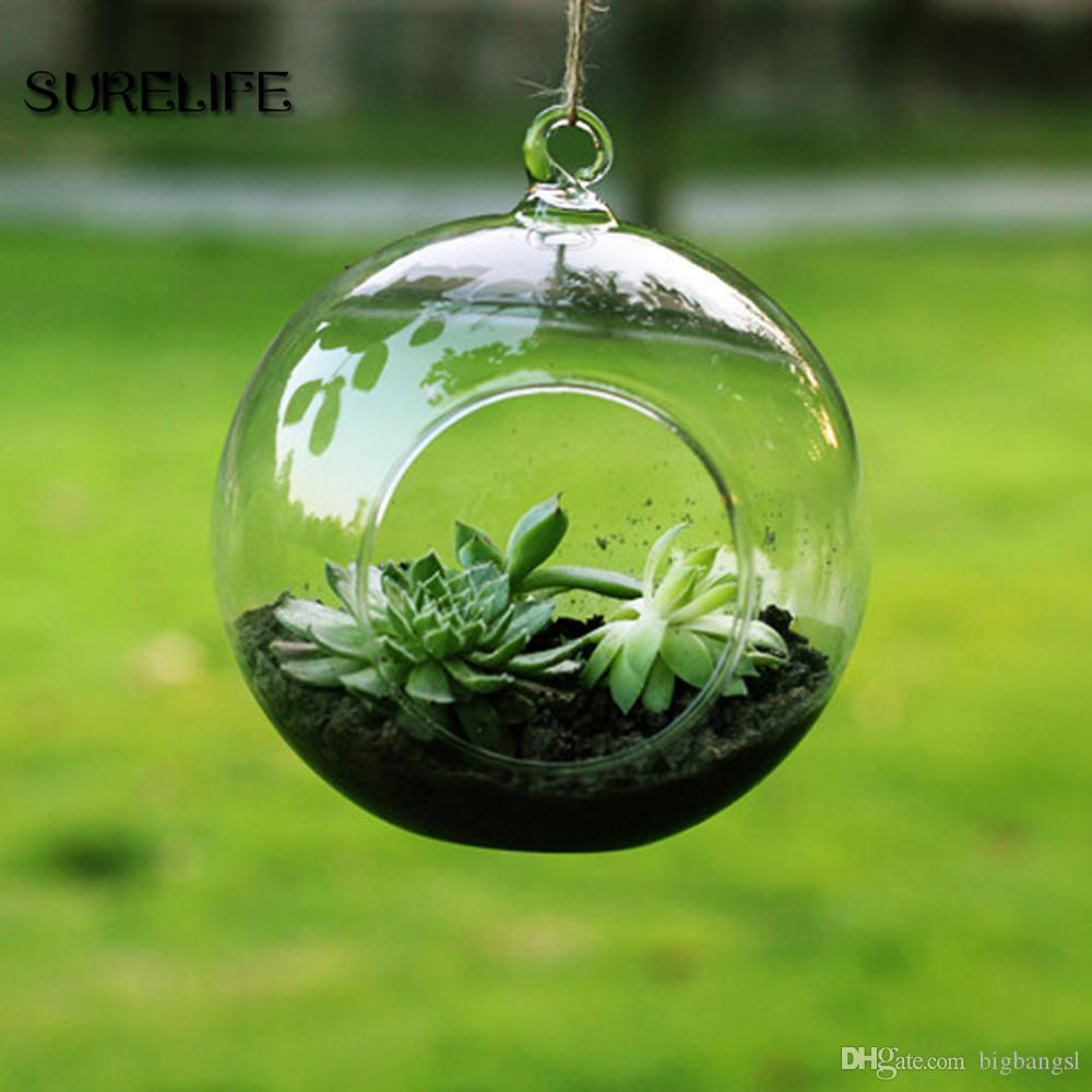 Cute Handmade Hot Clear Glass Globes With 1 Hole Hanging Plant