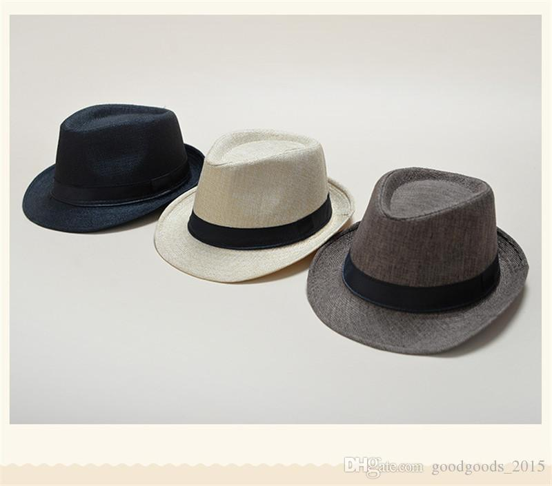 b3864f44209 2019 Vogue Men Women Soft Fedora Panama Hats Cotton Linen Straw Caps  Outdoor Stingy Brim Hats Spring Summer Beach TO662 From Goodgoods 2015