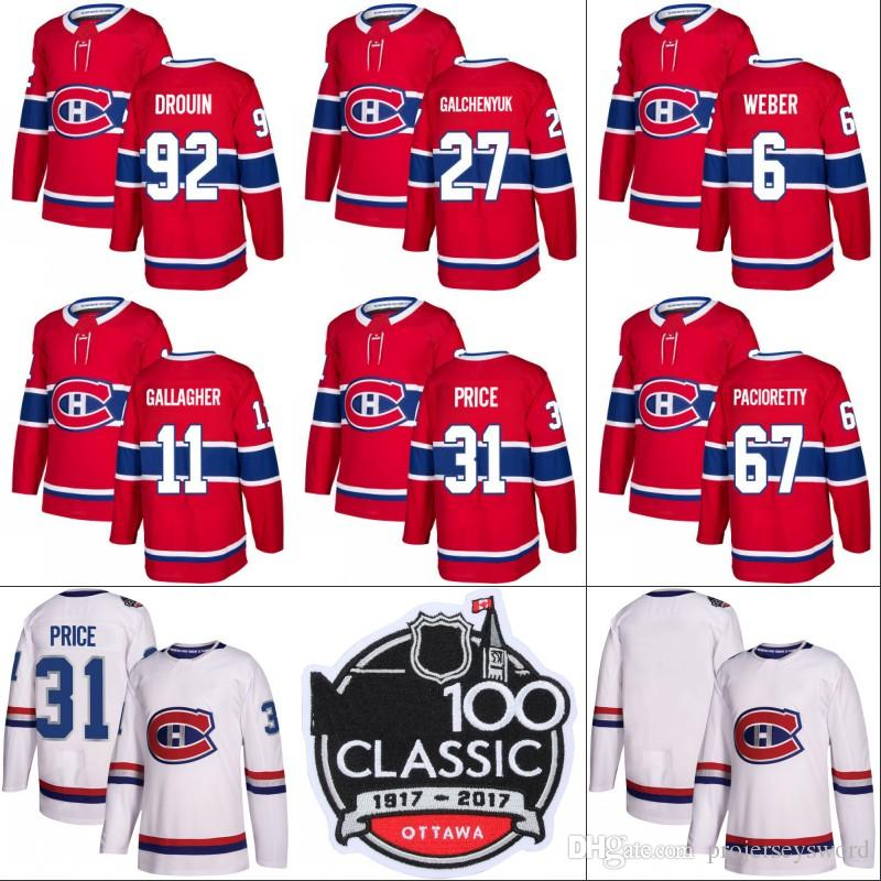 c92105692 2019 Montreal Canadiens Jersey 20 Nicolas Deslauriers 11 Brendan Gallagher  31 Carey Price 67 Max Pacioretty 92 Jonathan Drouin Hockey Jerseys From ...