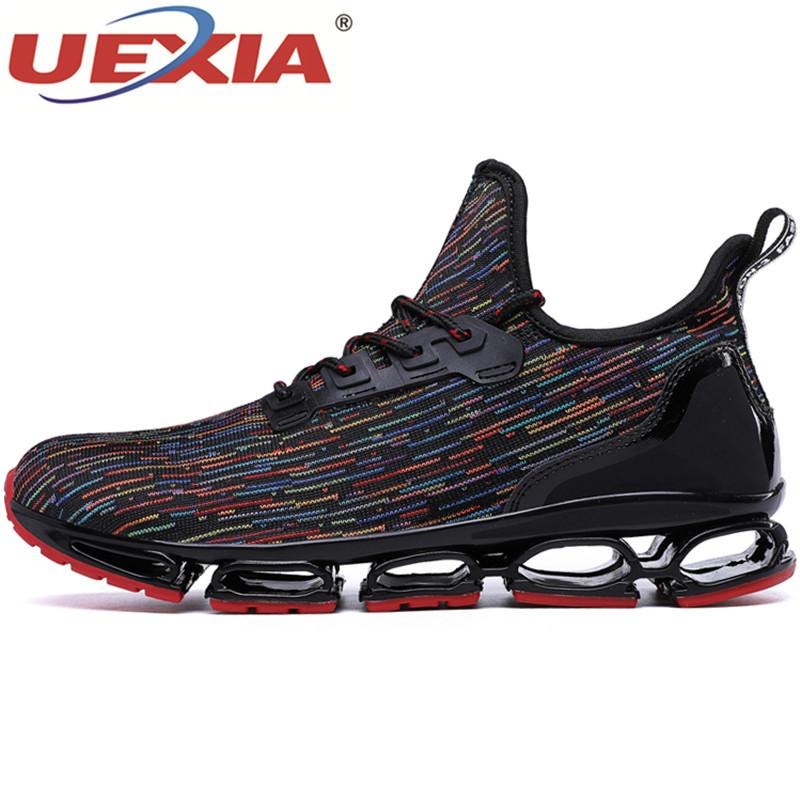 0e35ad3eb0ce 2019 UEXIA Men Running Shoes Blade Sneakers Cushioning Outdoor Men Sport  Shoes Jogging Athletic Male Trainer Zapatillas Hombre From Cbaoyu