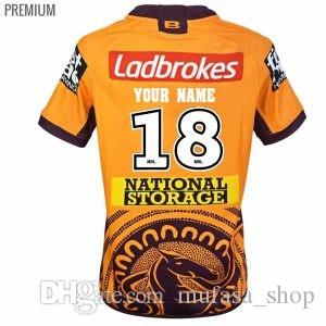 268c2bc291f 2019 Custom Names And Numbers Brisbane Broncos 2018 2019 INDIGENOUS Rugby  Jerseys League Shirt Nrl Jersey BRISBANE BRONCOS Shirts From Mufasa shop