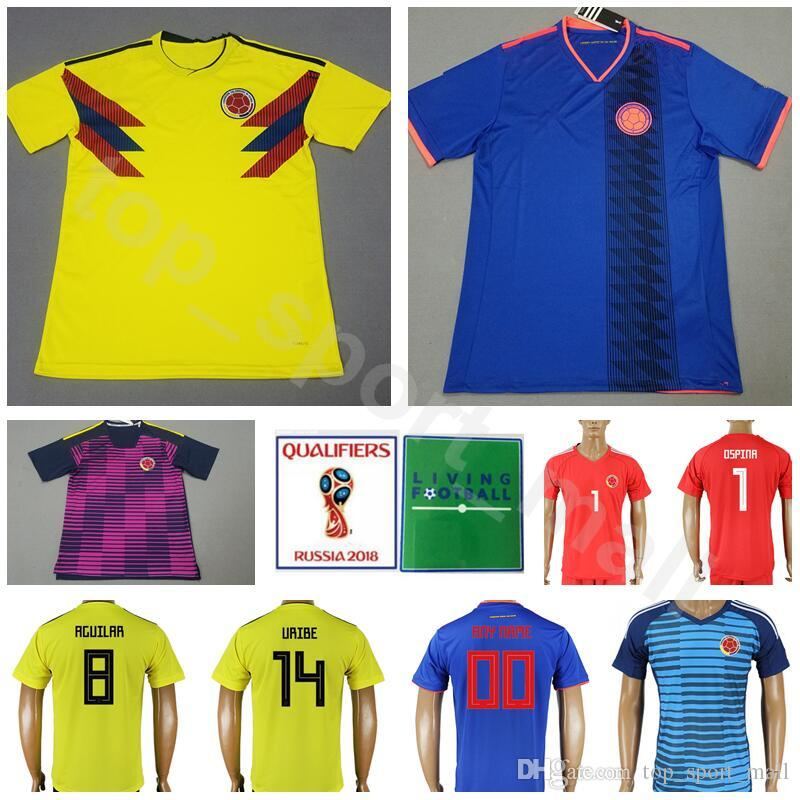 8e0f13ccf 2019 2018 World Cup Colombia Soccer Jersey Men 13 MINA 17 MOJICA 14 MURIEL Football  Shirt Kits 19 BORJA 1 OSPINA National Team Home Yellow Blue From ...