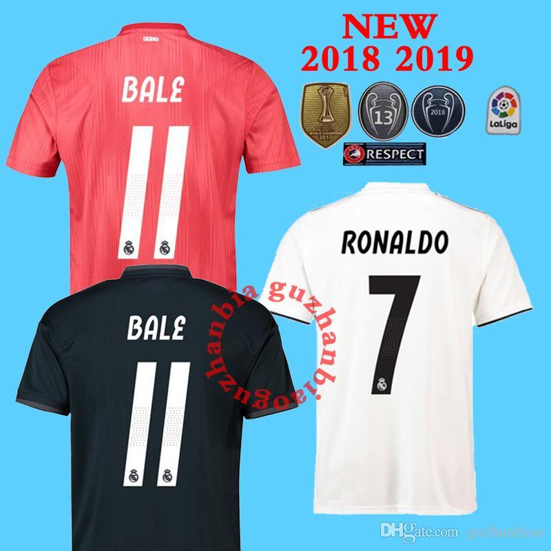 261ed435e22 2019 2018 2019 NEW REAL MADRID Soccer Jersey MODRIC LUCAS V MORATA BALE  KROOS ISCO BENZEMA Asensio Ronaldo 18 19 Football 13 Champions Shirts From  ...