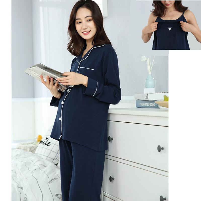 c008e807f5519 2019 /Sets Maternity Nursing Pajamas Soft Breastfeeding Sleepwear ...