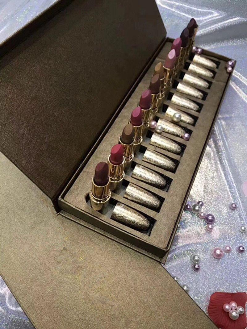 Set di cosmetici Set di rossetto palle da neve 12 pezzi / set Set di rossetti opachi rossetto Rouge A Levres Rossetto opaco