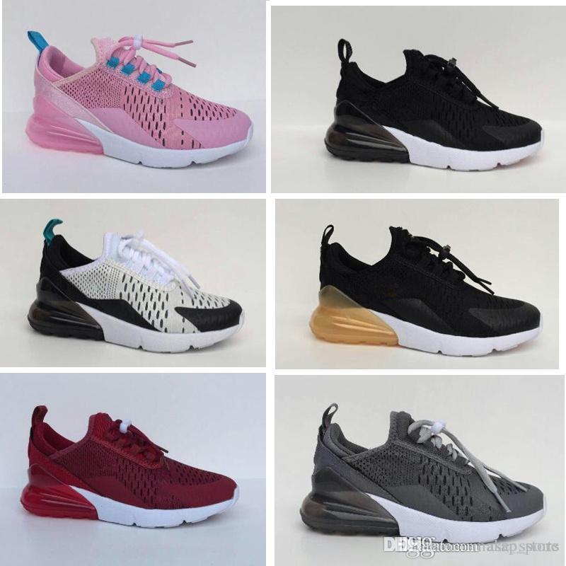7696ec5c23 Infant Air Cushion 270 Kids running shoes Black White Vapormax 270 outdoor  toddler athletic boy & girl Children sneaker Maxes Size 28-35