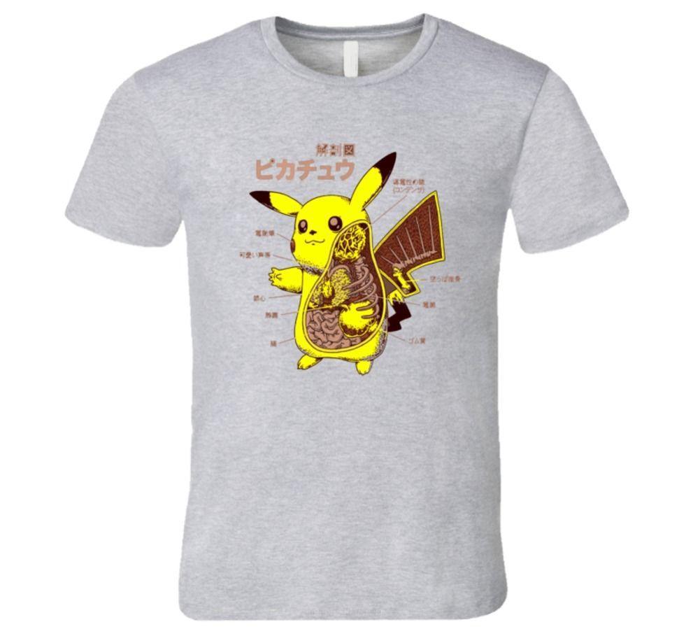 Picachu\'S Anatomy Cool Old Timers T Shirt Gift Print T Shirt Hip Hop ...