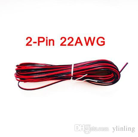5M 10M 20M 2-Pin 18 20 22 AWG Electric Red Black Extension Wire Cable