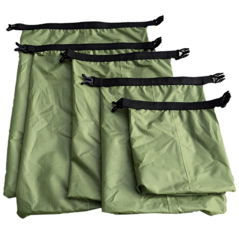 5 Pcs A Set Outdoor Swimming Waterproof Bag Camping Rafting Storage Dry Bag With Adjustable Strap Hook New 2018