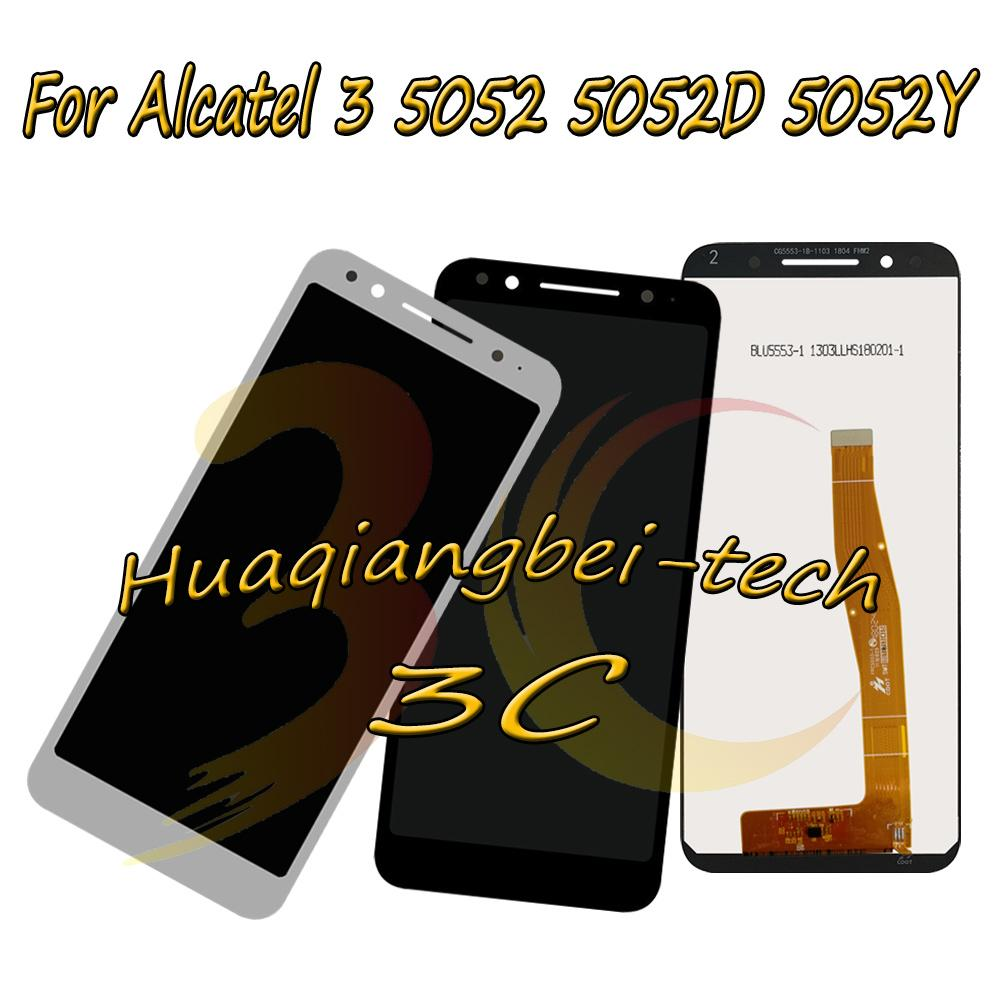 b360061bdc441e 5.5'' New Black / White For Alcatel 3 5052 5052D 5052Y Full LCD DIsplay +  Touch Screen Digitizer Assembly 100% Tested