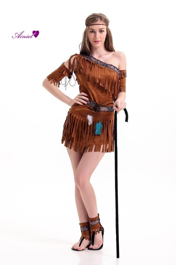 2019 Halloween Costume Ladies Pocahontas Native American Indian West
