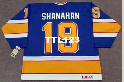 2019 Mens  19 BRENDAN SHANAHAN St. Louis Blues 1991 CCM Vintage RETRO  Hockey Jersey Or Custom Any Name Or Number Retro Jersey From Ttl123 e7c28e40d