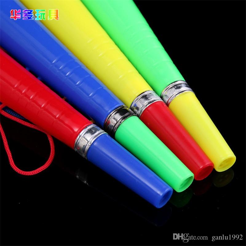 Children Toys 2018 FIFA World Cup Carnival Toy Football Plastic Straight Trumpet Refueling Props Party Supplies 1 6hd W