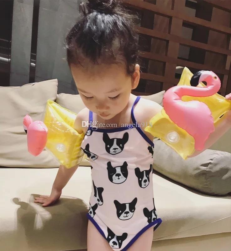 Baby-Schwimmen-Arm-Kreis-Krabben-Ananas Kirschflamingo PVC-aufblasbarer Schwimmen-Arm-Kreiskinder schwimmen Hülsen-Schwimmen-Ring-freies Verschiffen H003