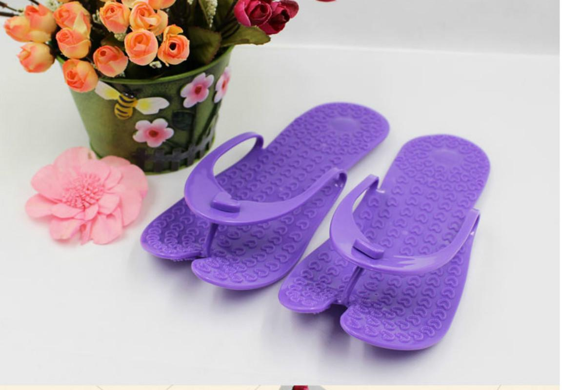 fashion style shop for newest shop for original 2018 Travel portable folding anti-skid wear men and women massage slippers  bathroom flip-flops hotel sandals