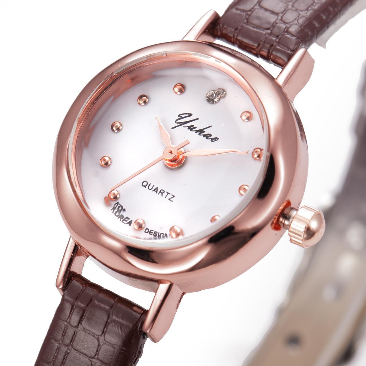 wengle New YUHAO Compact Thin bracelet fashion Korean style Tempered glass mirror luxury dress Quartz watch