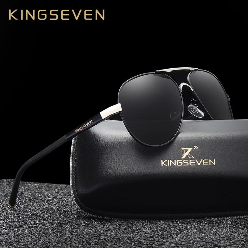 94eb1bcb6e X KINGSEVEN Fashion Men s Polarized Sunglasses Men Driving Shield ...