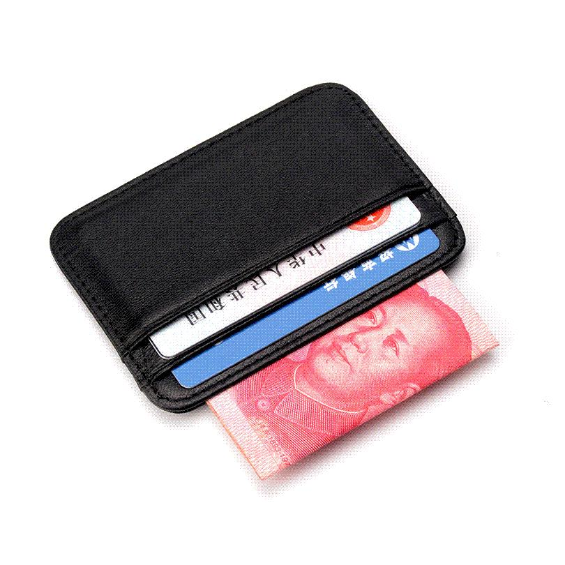 c59f14f633 COHEART Super Slim Soft Wallet 100% Sheepskin genuine leather mini credit  card wallet purse card holders Men Wallet Thin Small !