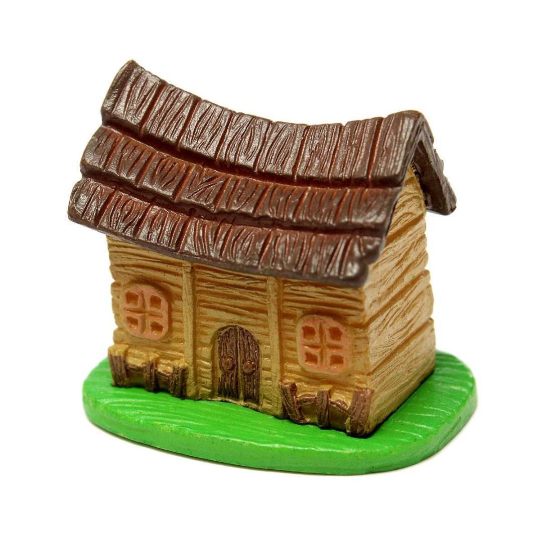 Miniature Dollhouse Landscape Moss Mini Mini House Diy Fairy Garden ...