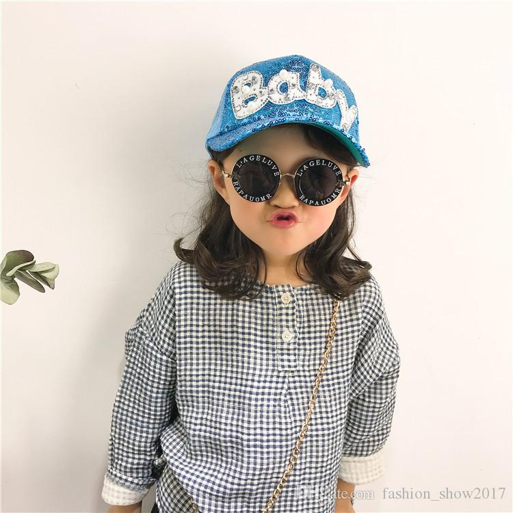 Children Mesh Caps Girls Baseball Caps Snapback Peaked Caps Summer Pearl Diamond Sequin Baseball Cap Children Adjustable Snapback Hat