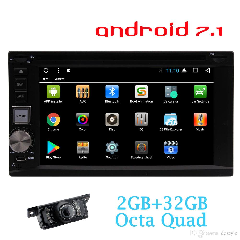 EinCar 6 2 Double din Android 7 1 Car Sterei Receiver Bluetooth GPS  Navigation car dvd Touch screen Wifi Web Browsing APP Dowanlod