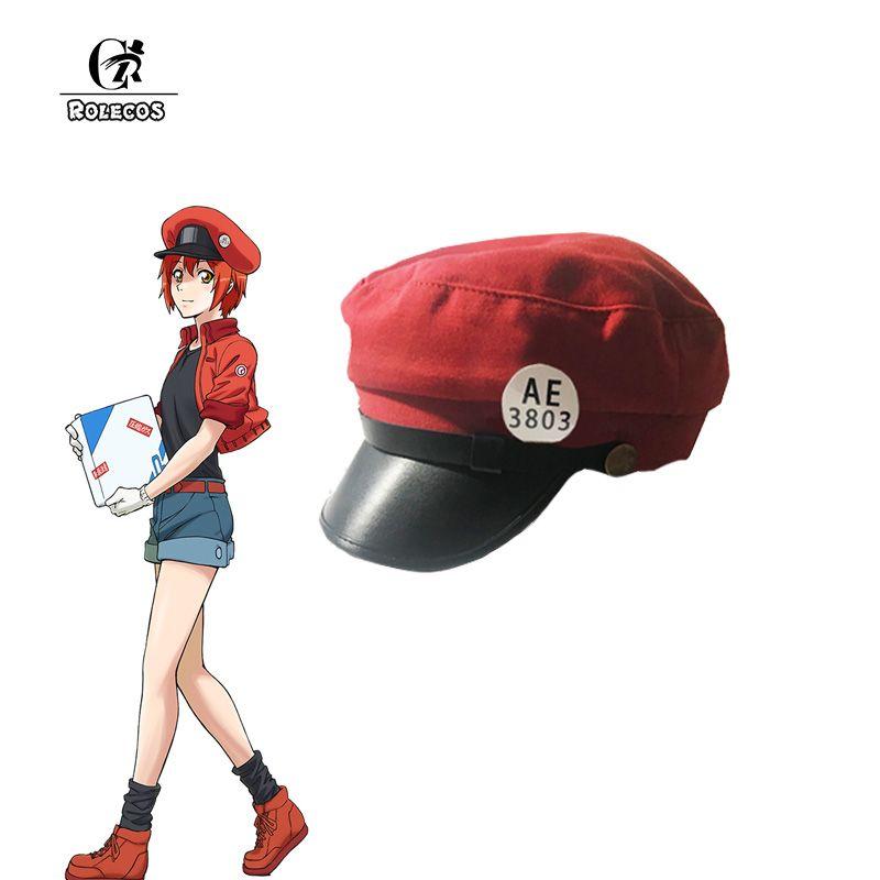 Compre ROLECOS Erythrocytes Cosplay Gorra Anime Cells At Work Cosplay Gorra  Hataraku Saibou Gorra Deportiva Béisbol Red Hat A  34.81 Del Yyliang  d9ccfb284ba