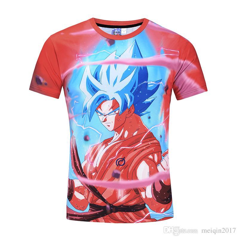 Лето 3D печатный футболка мужская пляж футболка Dragon Ball мультфильм 3d футболка M-3XL плюс размер топы тис BL-414