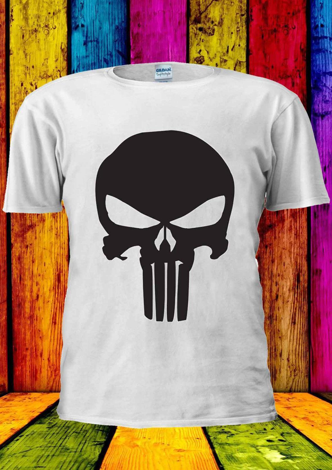 5cf52dcb Punisher Skull Frank Castle Antihero T Shirt Vest Tank Top Men Women ...