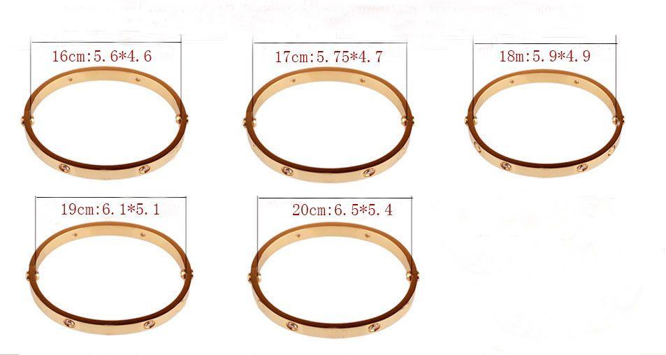 classique amour bracelets 17 cm 19 cm argent rose bracelet en or bracelets femmes hommes tournevis à vis Bracelet couple bijoux avec logo sac cadeau