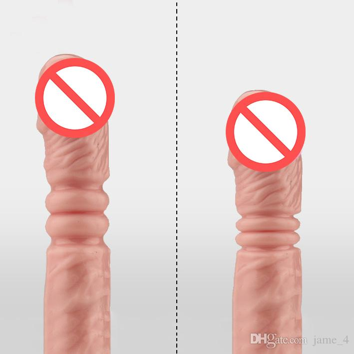 Female Dildo penis strong Sucker Rotating rocking vibration Telescopic penis Mute Waterproof Adult product sex toys for woman