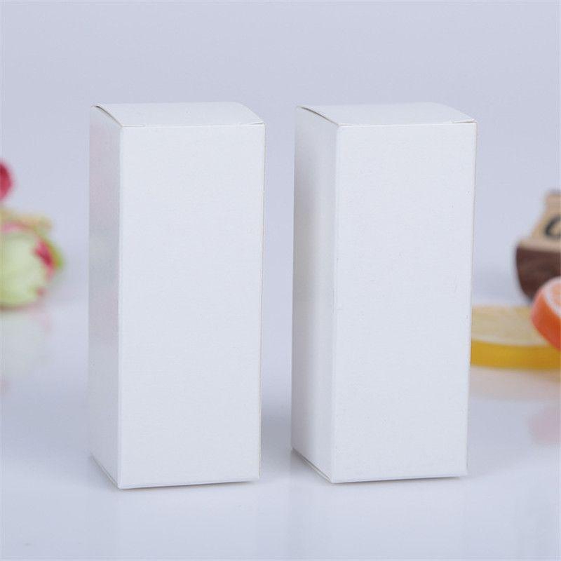 10 dimensioni Nero bianco Kraft Paper scatola di cartone rossetto cosmetico bottiglia di profumo Kraft Paper Box scatola di imballaggio olio essenziale LZ1416