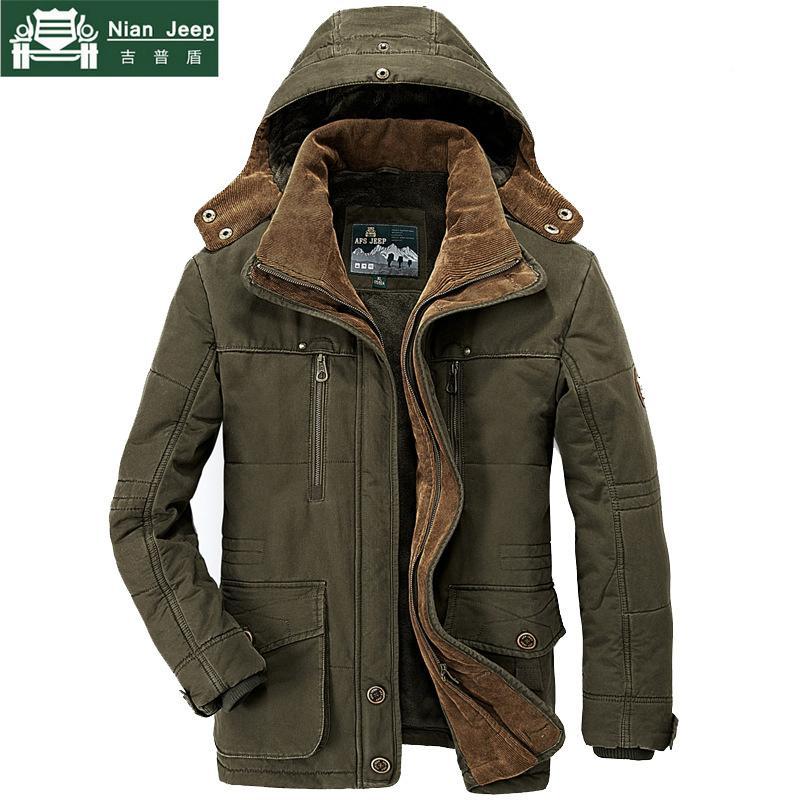 373f2342b7 AFS JEEP Marca Parka da uomo invernale Plus Size 5XL 6XL Giacca da uomo in  cotone militare Multi-Pocket Parka Hombre Invierno S18101803