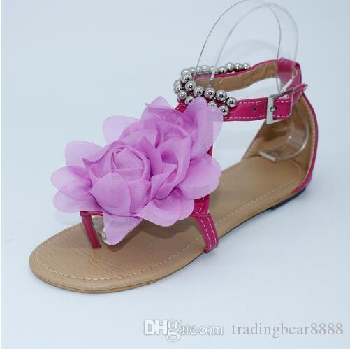 Sandalias de flores para mujeres 2018 Summer Lady Flower Slippers Sandalias de mujer de moda Tamaño; 34-43
